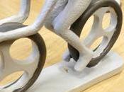 Cycling Gift Ciclista stilizzato resina dipinto mano