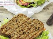 Sandwich verdure, crema anacardi germogli