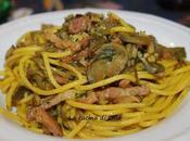 Primi: Pasta carciofi pancetta