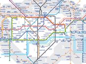 mappa della tube londinese mostra quanti minuti vogliono stazione all'altra!