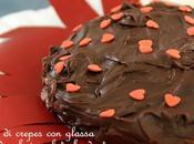 Torta crepes glassa morbida cioccolato fondente