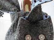 Borsetta coniglietto tessuto, cartamodello Cloth Bunny with template
