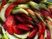 Insalata fragole cetrioli