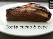 Torta pere cioccolata vegan