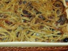 Spaghetti forno salsiccia mirto