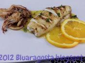 Cannolo calamaro ripieno ricotta salsa all'arancia