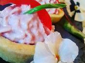 Tartellette frolla salata spuma prosciutto cotto, filetto Marzano ciuffo cicoria