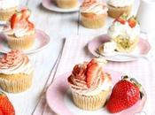 Cupcakes Panna Fragole