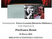 Cosenza convegno nazionale Pirandello Lectio Magistralis Pierfranco Bruni marzo