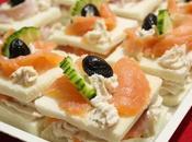 Tramezzini veloci crema formaggio, salmone prosciutto