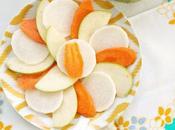Insalata croccante alla mela verde, carote, daikon gomasio