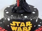 Torta compleanno Star Wars Darth Vader pasta zucchero