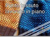 Punto tessuto maglia lavorato piano