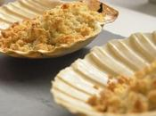 Capesante gratinate crumble alla mandorle vaniglia