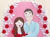 Paper Couple Portrait