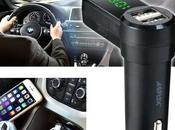 AGPtek Wireless Trasmettitore Bluetooth Auto Veicoli Lettore Musica Doppia Porta Ricarica