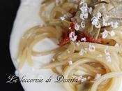 Spaghetti carciofi pomodori secchi, mousse ricotta