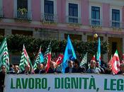 Lavoro,dignità, legalità marzo piazza sindacati