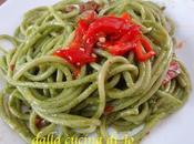 Bucatini pesto spinacini peperoni Palermo
