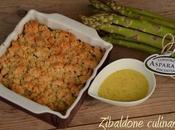 Crumble asparagi zabaione salato alla senape