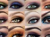Scegliere colore dell'ombretto base agli occhi