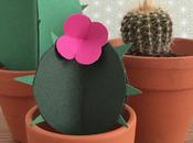 Cactus carta Handmade paper succulent