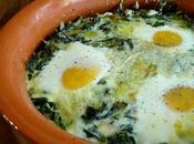 Uova gratin letto spinaci