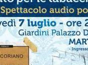 """Luglio 2016 Martano Giardini Palazzo Ducale nuda voce. Canto tabacchine"""", Elio Coriano, Stella Grande, Vito Aluisi"""
