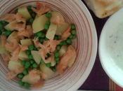 Insalata fredda patate salmone affumicato salsa greca