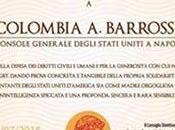 """Alla Console Barrosse l'Antinoo d'Oro """"per determinazione nella difesa diritti civili"""""""