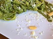 Tagliatelle pesto zucchine ricotta