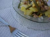 Insalata patate,fagiolini,tonno cipolla Tropea