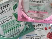 Nuove maschere tessuto Hydra Bomb Garnier: pelle rigenerata