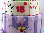 Torta pasta zucchero 18°: Alice paese delle meraviglie