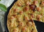 Focaccia zucchine, ciliegino formaggi