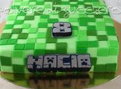 Torta decorata pasta zucchero Lego Minecraft