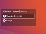 nuovo desktop Unity disponibile come sessione prova Ubuntu 16.10