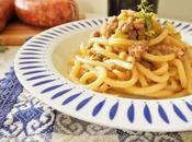 ricetta pici toscani: Pici ragù bianco salsiccia Norcia Santo