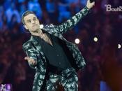 Robbie Williams nella gala Principales.