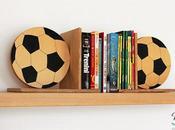 Fermalibri legno forma pallone