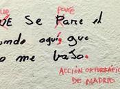 movimento corregge errori grammaticali sulle strade Madrid