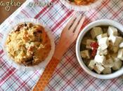 Muffins salati feta, pomodori secchi aglio orsino Savoury muffins with sundried tomatoes wild garlic