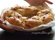 Treccia pane alla panna,datteri noci cotta fornetto estense