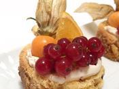 Pasticcini panettone frutta fresca tropicale