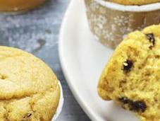 Muffins vegan alla zucca gocce cioccolato