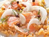 Insalata invernale lenticchie rosse, finocchio salmone
