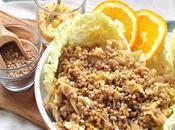 Granotto saraceno allo spumante, verza profumo d'arancia