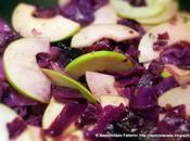 contorno semplice gustoso: cavolo rosso mele verdi granny smith stufato porto