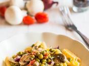 Pasta senza glutine piselli funghi champignon
