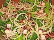 Polpo grigliato insalata verdure